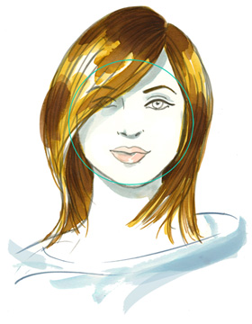 Haarschnitt runde Gesichtsform